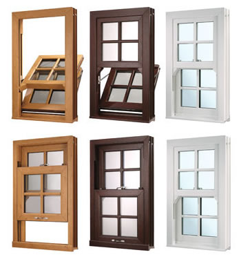 many different sash window colours available in Sussex and London